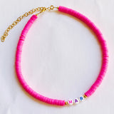 Hot Pink Custom Necklace