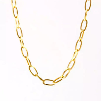 Oval Basic Chain Nacklace
