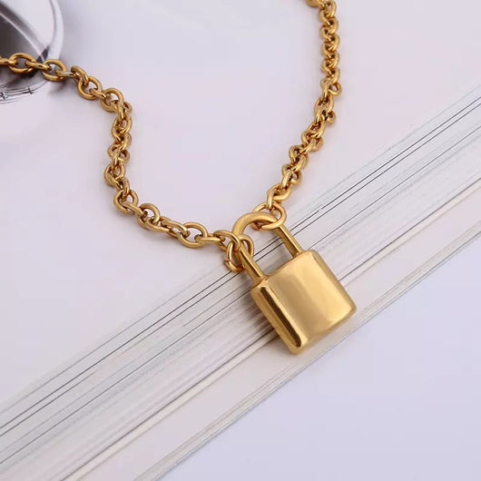 Basic Lock Chain Necklace