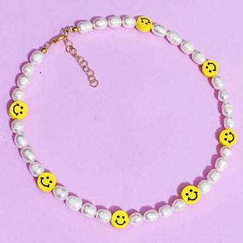 Yellow Smiley Freshpearl Necklace