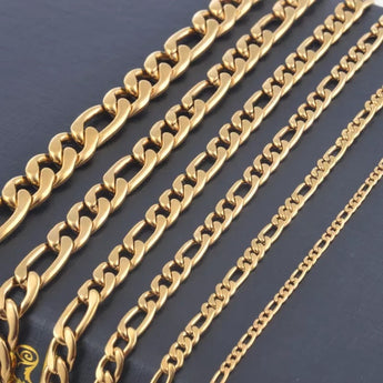 Gold Figaro 5mm Chain