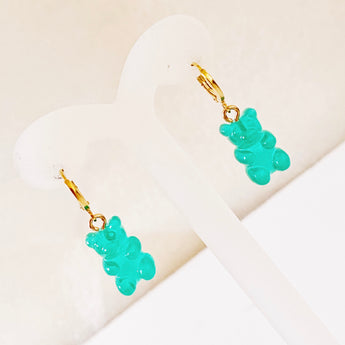 Gummy Bears Emerald Hoops