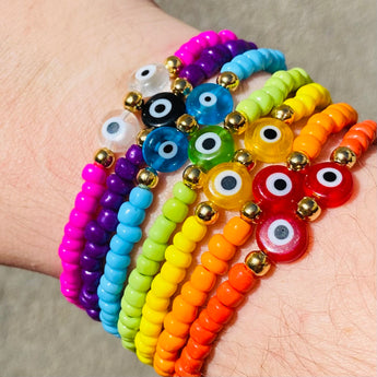 Colorfull crystaleye set bracelet
