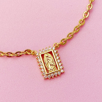 Escapulario Virgen Gpe Necklace