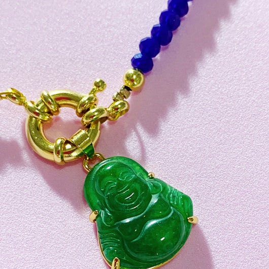 Lucky buddha blue Necklace