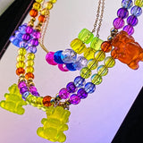 Colorfull Gummy Bear Necklace
