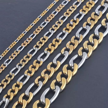Bicolor Figaro 6mm Chain