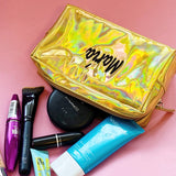 Custom Gold Makeup Bag