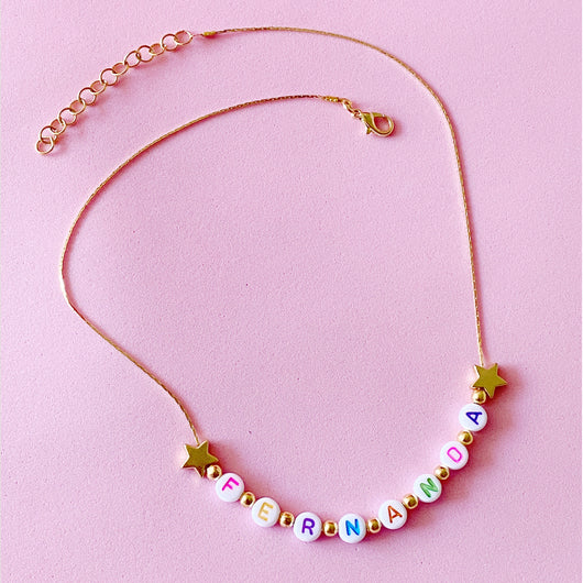 Color Letter Necklace