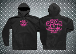 Original Hoodie / Black & Hot Pink
