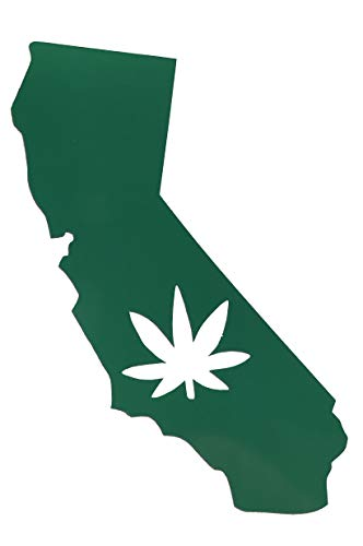 Custom California Marijuana Vinyl Decal-WickedGoodz