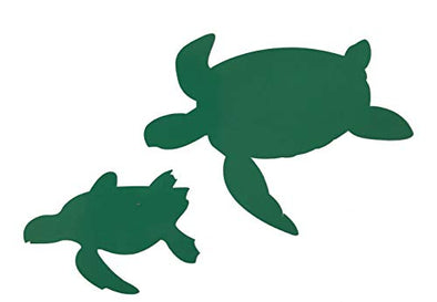 Custom Mother and Baby Sea Turtle Vinyl Decal - Beach Bumper Sticker, For Laptops, Cooler or Car Windows, Turtle Sticker-WickedGoodz