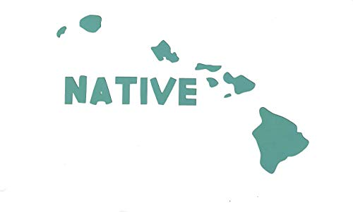 Custom Vinyl Native Hawaii Home Decal, HI State Bumper Sticker, for Tumblers, Laptops, Car Windows - Choose Color and Size-WickedGoodz