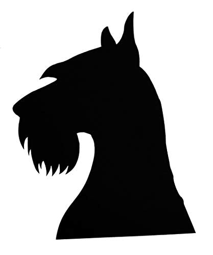 Custom Schnauzer Dog Vinyl Decal - Dog Breed Bumper Sticker, for Laptops or Car Windows - Personalized Pick Size and Color Style Two-WickedGoodz