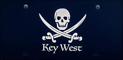 Key West Pirate Vanity License Plate Front Plate-WickedGoodz