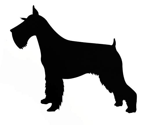 Custom Schnauzer Dog Vinyl Decal - Dog Breed Bumper Sticker, for Laptops or Car Windows - Personalized Pick Size and Color-WickedGoodz