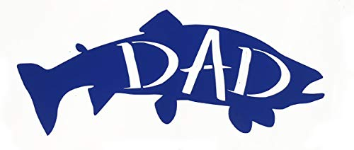 Custom Trout Dad Vinyl Decal - Fishing Bumper Sticker, for Tumblers, Laptops or Car Windows - Great Gift for Fathers-WickedGoodz