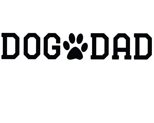 Custom Personalized Dog Dad Vinyl Decal - Pet Paw Bumper Sticker, for Tumblers Coolers, Laptops, Car Windows - Paw Print Design-WickedGoodz