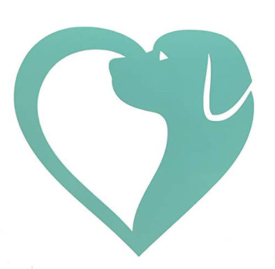 Custom Labrador Dog Heart Vinyl Decal-WickedGoodz
