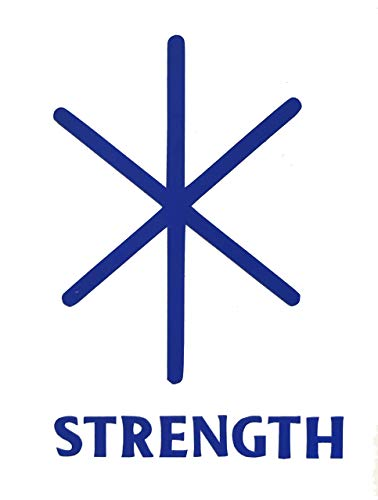 Viking Strength Rune Vinyl Decal - Norse Bumper Sticker, for Laptops or Car Windows - Great Scandinavian or Icelandic Heritage Gift-WickedGoodz