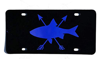 Trout Fishing Front Vanity License Plate Car Tag-WickedGoodz