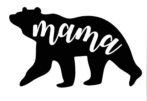 Personalized Mama Bear Vinyl Decal - Mom Bumper Sticker, for Tumblers, Laptops, Car Windows - Pick Size and Color-WickedGoodz