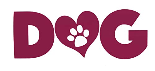 Custom Dog Heart Paw Print Vinyl Decal-WickedGoodz