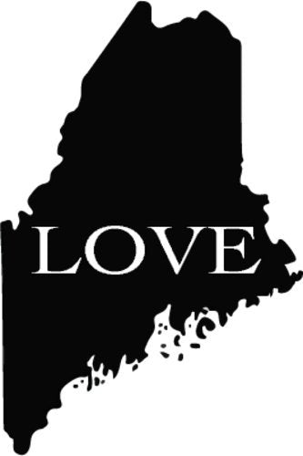 WickedGoodz Vinyl Love Maine Decal - State Bumper Sticker - Perfect Mainer Souvenir Gift-WickedGoodz