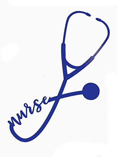 Custom Nurse Stethoscope Vinyl Decal - Nursing Bumper Sticker, for Tumblers, Laptops, Car Windows - Nurse EKG Rn CNA LPN Gift-WickedGoodz