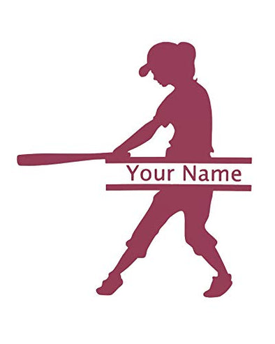 Customized Softball Vinyl Name Decal-WickedGoodz