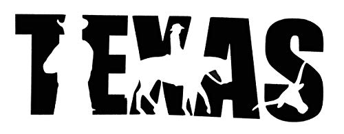 Custom Texas Vinyl Decal - Cowboy Cattle Bumper Sticker, for Tumblers, Laptops, Car Windows - TX in Text Design-WickedGoodz