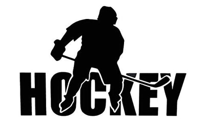 Custom Hockey Vinyl Decal Ice Hockey Bumper Sticke-WickedGoodz