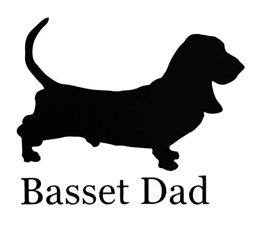 Custom Basset Hound Dad Vinyl Decal-WickedGoodz