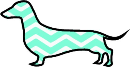 WickedGoodz Die Cut Weiner Dog Vinyl Decal - Dachshund Bumper Sticker - Perfect Dog Owner Gift-WickedGoodz