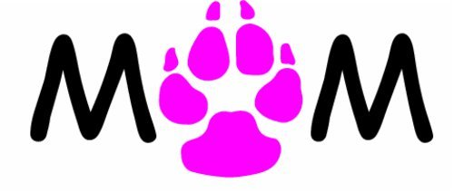 WickedGoodz Vinyl Pink Paw Rescue Dog Decal - Animal Shelter Bumper Sticker - Perfect Dog Fur Baby Pet Owner Gift-WickedGoodz