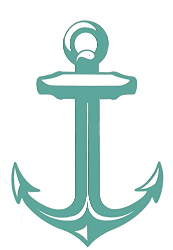 Custom Vinyl Boat Anchor Decal, Nautical Love Bumper Sticker, for Tumblers, Laptops, Car Windows-WickedGoodz