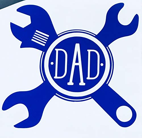 Custom Initial Monogram Decal Crossed Wrench Design-WickedGoodz