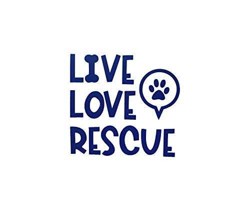 Custom Live Love Rescue Vinyl Decal - Dog Bumper Sticker, for Tumblers, Laptops, Car Windows - Dog Owner Gift-WickedGoodz