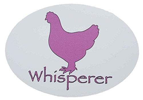 Oval Pink Chicken Whisperer Refrigerator Bumper Magnet - Perfect Farm Gift-WickedGoodz