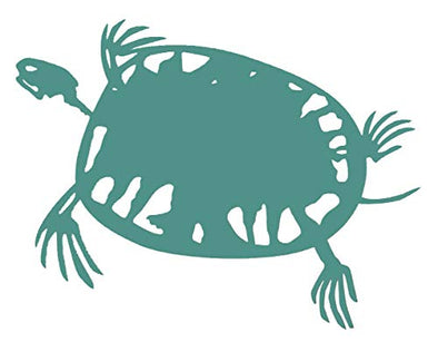 Custom Sea Turtle Fossil Vinyl Decal - Beach Bumper Sticker, For Laptops, Cooler or Car Windows, Turtle Sticker-WickedGoodz