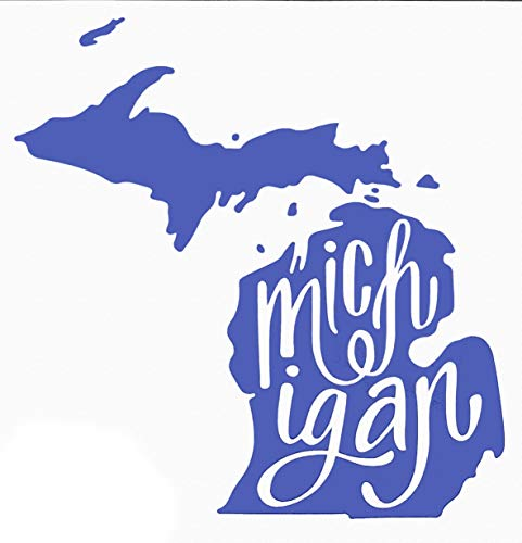 Custom Vinyl Michigan Decal, MI State Bumper Sticker, for Tumblers, Laptops, Car Windows - Choose Color and Size-WickedGoodz