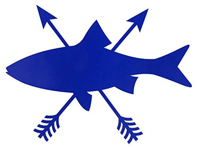 Custom Arrow Trout Fish Vinyl Decal-WickedGoodz