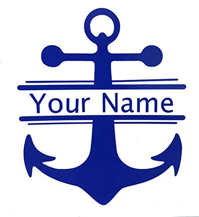 Personalized Nautical Anchor Name Vinyl Decal - Custom Boating Bumper Sticker, for Tumblers, Laptops, Car Windows-WickedGoodz