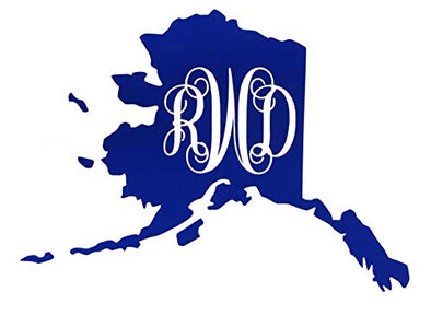 Custom Alaska Vine Monogram Vinyl Decal-WickedGoodz