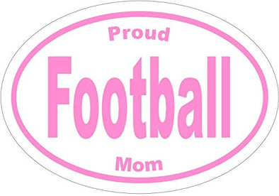 WickedGoodz Oval Vinyl Proud Football Mom Decal - Sports Bumper Sticker - Perfect Mother Gift-WickedGoodz