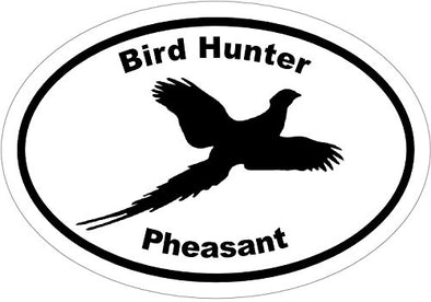 WickedGoodz Oval Vinyl Bird Hunter Pheasant Decal - Hunting Bumper Sticker - Perfect Upland Gift-WickedGoodz