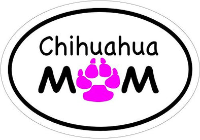 Perfect Chihuahua Gift Dog Breed Bumper Sticker WickedGoodz Oval Since 1904 Chihuahua Vinyl Window Decal