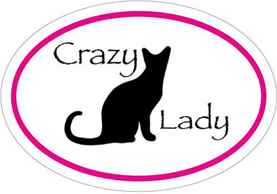 WickedGoodz Pink Oval Feline Shelter Mom Vinyl Window Decal Meow Bumper Sticker Perfect Cat Gift