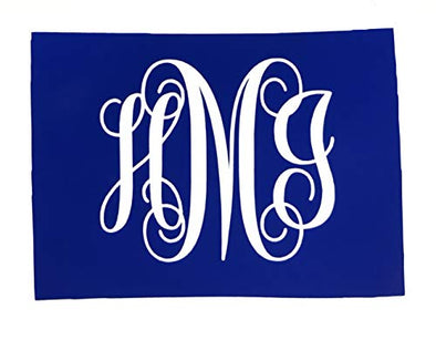 Custom Colorado Vine Monogram Vinyl Decal-WickedGoodz