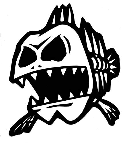 Custom Fat Bone Fish Vinyl Decal-WickedGoodz